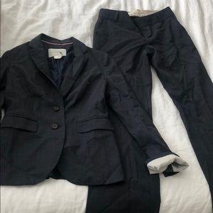 Banana Republic Blue Gray Nailhead suit